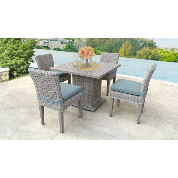 Kara Square 5 Piece Dining Set with Cushions by Rosecliff Heights