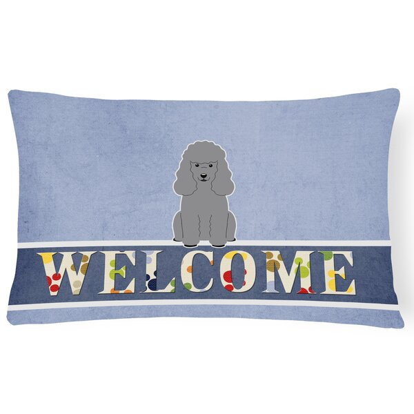Lafountain Poodle Welcome Lumbar Pillow by Red Barrel Studio