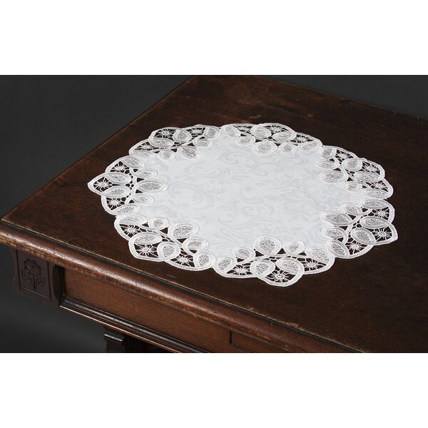 Christofer Lace Embroidered Cutwork Round Placemat (Set of 4) by One Allium Way