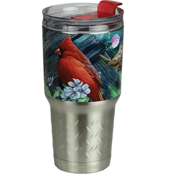 Pressler Birds 24 oz. Stainless Steel Travel Tumbler by Bloomsbury Market