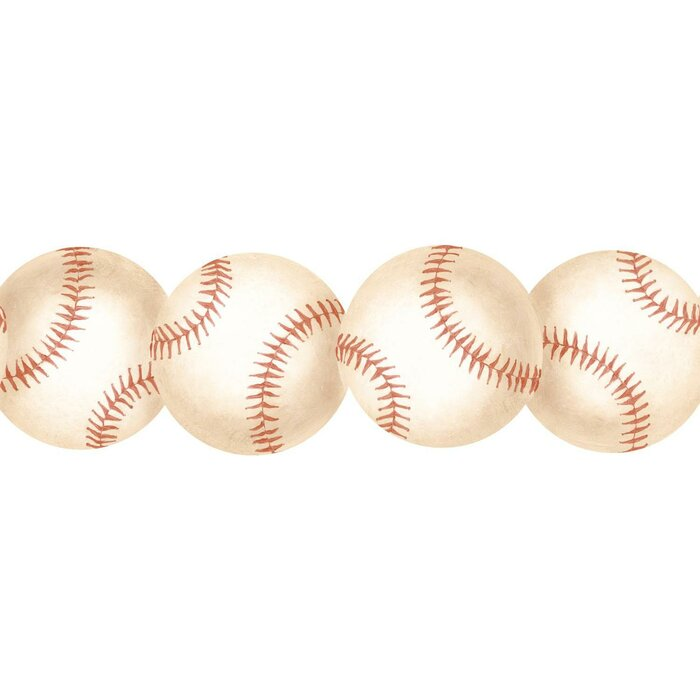 York Wallcoverings Baseball 15 X 3 Abstract Border Wallpaper