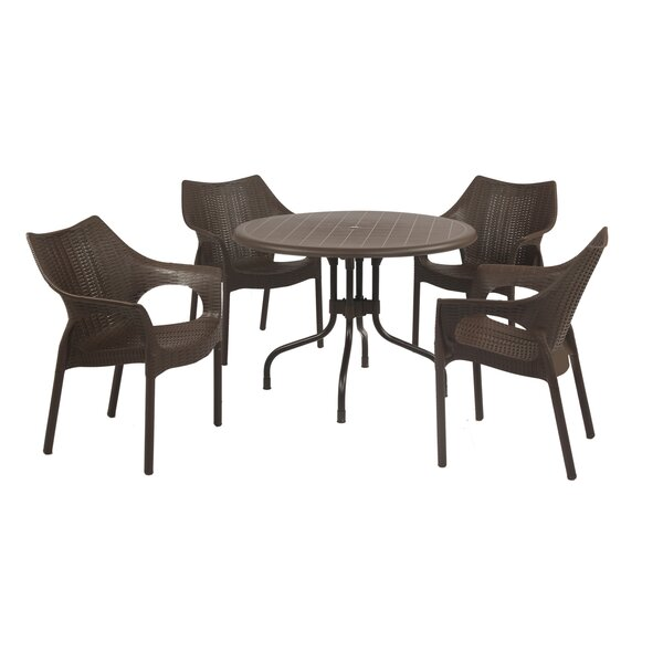 Whitaker Commercial Grade 5 Piece Dining Chair Set by Bungalow Rose