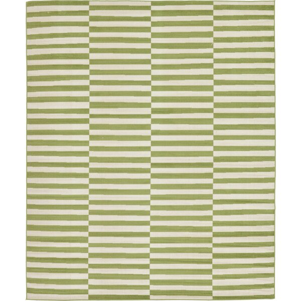 Jace Grass Green/White Area Rug by Mercury Row