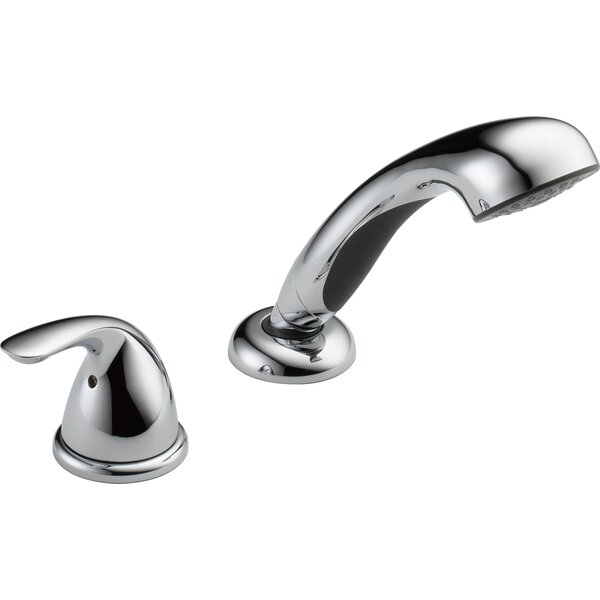 Classic Single Handle Deck Mount Roman Tub Faucet by Delta