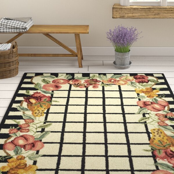 Kinchen Ivory/Black Area Rug by August Grove