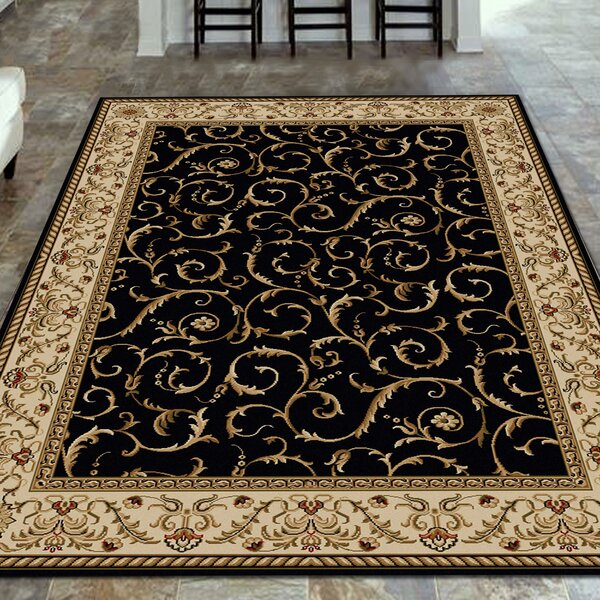 Weisgerber Black Area Rug by Astoria Grand