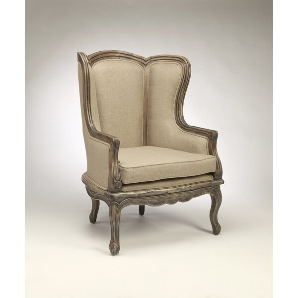 Rayane Wingback Chair by One Allium Way