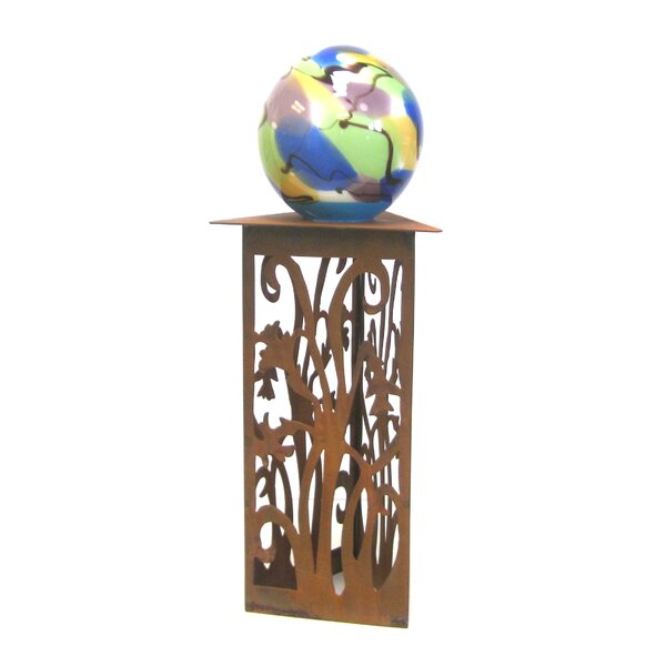 Daffodil Gazing Ball Pedestal by Z Garden Party