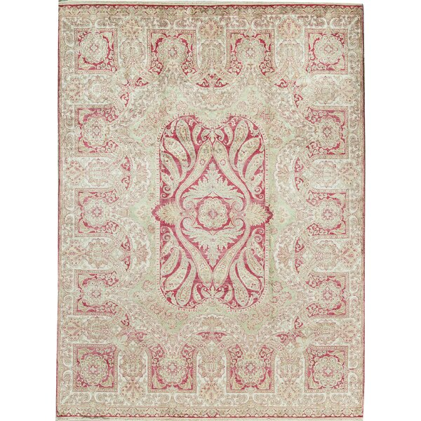One-of-a-Kind Regis Hand-Knotted Cream 9'1 x 12'2 Area Rug