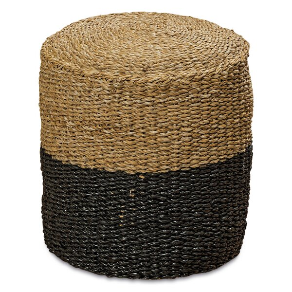 Frasher Woven Wicker Ottoman by Bungalow Rose