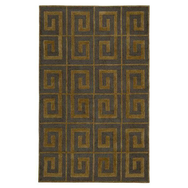 Cork Hand-Tufted Gray Area Rug by Meridian Rugmakers