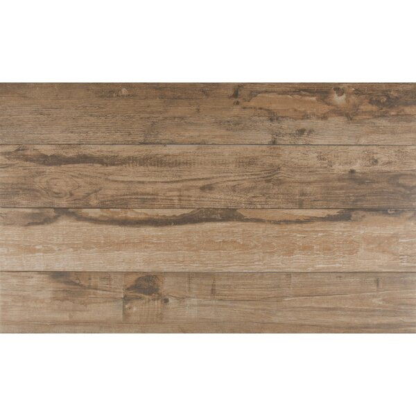 Salvage 6 x 40 Porcelain Wood Tile in Glazed Red by MSI