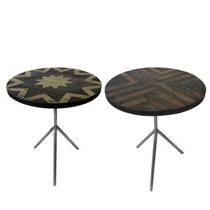 Degnan 2 Piece Intricate Side Table Set (Set of 2) by Brayden Studio
