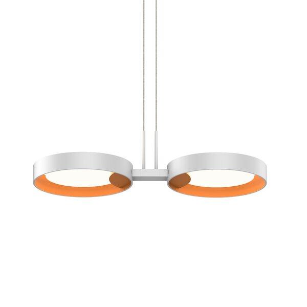 Tayler 2-Light LED Unique / Statement Geometric Chandelier by Sonneman Sonneman