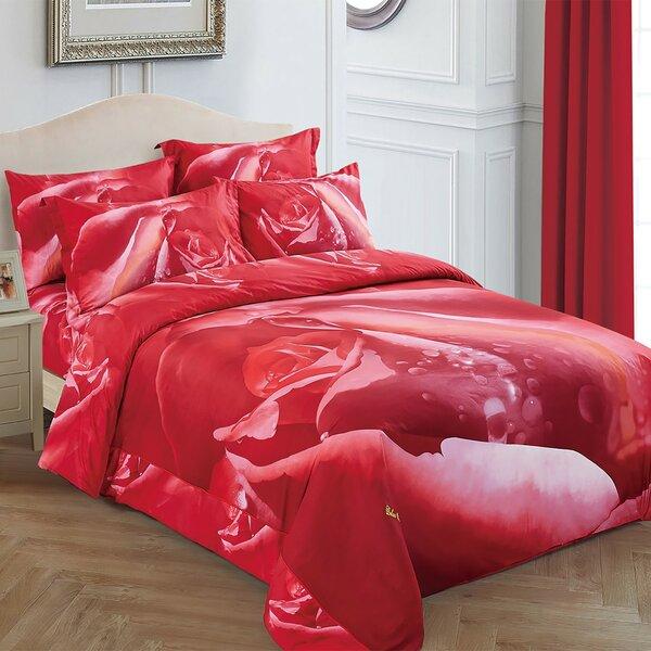 Rosa Cotton 6 Piece Reversible Duvet Cover Set