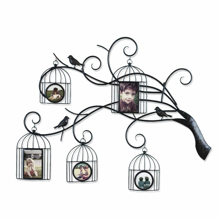 AdecoTrading Collage Wall Hanging 5 Opening Family Tree Scroll ...