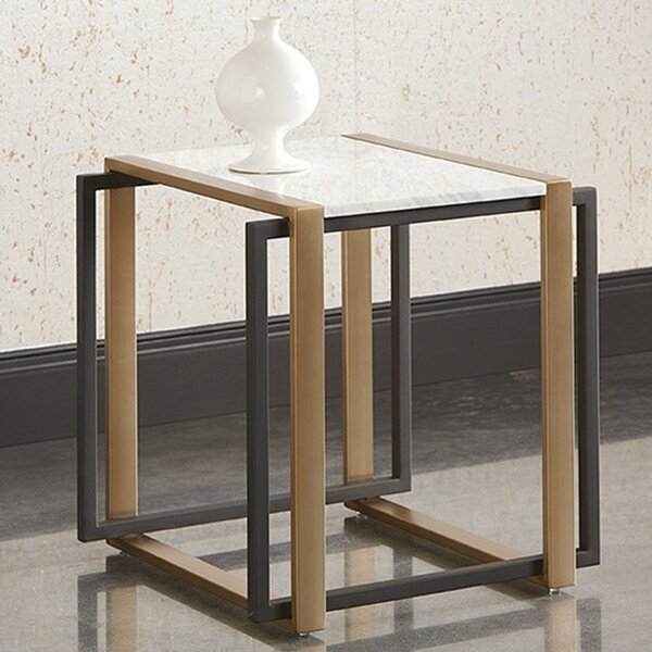 Garnet Marble End Table by Sunpan Modern