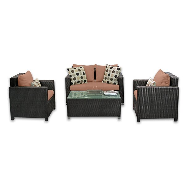 Skye Venice 4 Piece Sunbrella Sofa Set with Cushions by Patio Heaven Patio Heaven