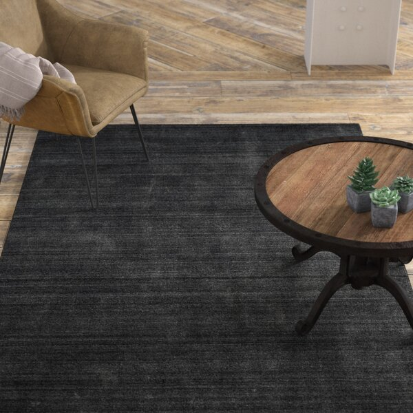 Zowie Hand-Woven Graphite Area Rug by 17 Stories