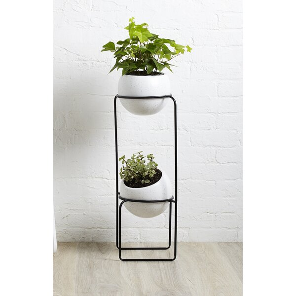 Nesta Ceramic Pot Planter by Umbra