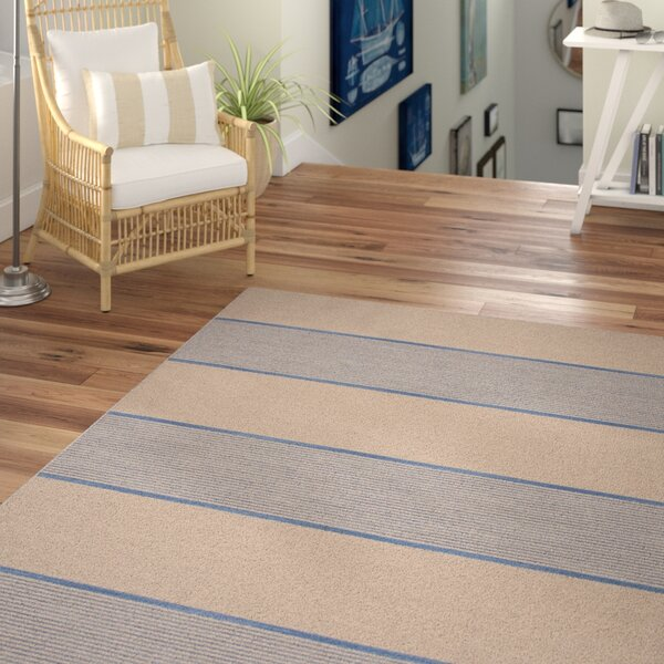 MacAdam Wool Flat Weave Blue & Ivory Area Rug by Beachcrest Home