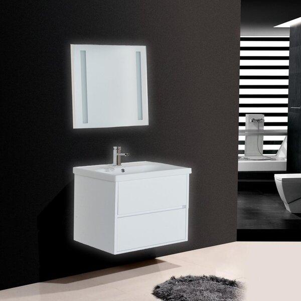 Goshen 32 Wall-Mounted Single Bathroom Vanity Set with Mirror
