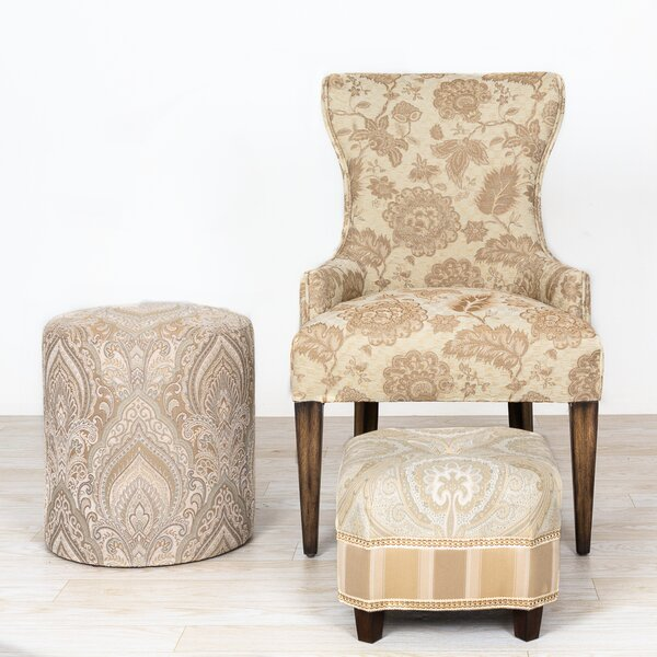 Maeve French Country Floral Wingback Chair and Ottoman by Ophelia & Co.