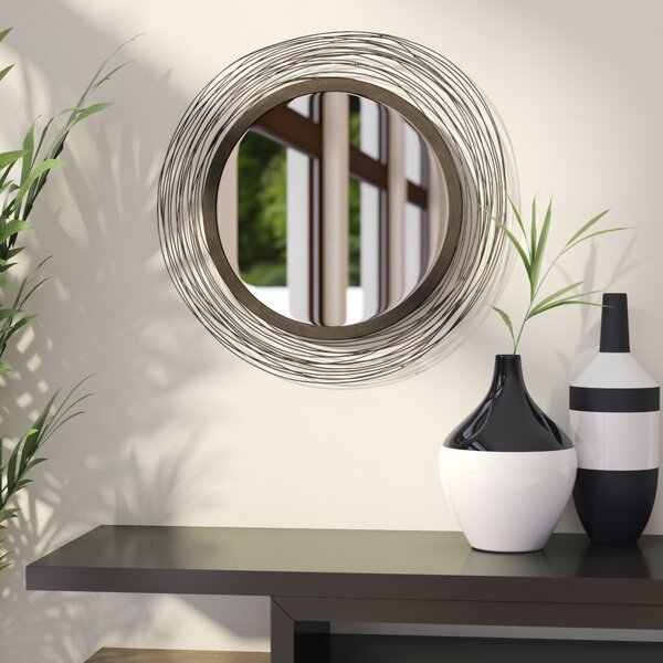 Croley Wired Wall Mirror by Wade Logan