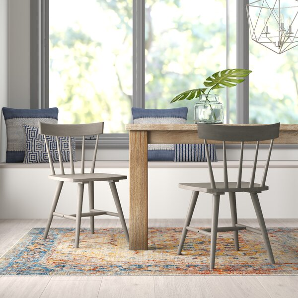 Bober Windsor Back Solid Wood Dining Chair (Set of 2) by Ivy Bronx