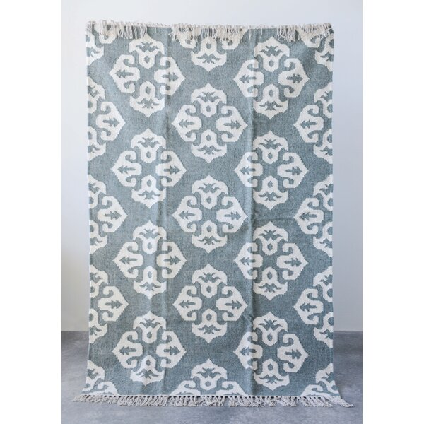 Sroda Mist/Cream Area Rug by Highland Dunes