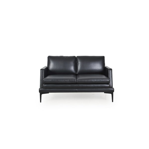 Arteaga Leather Loveseat by Brayden Studio