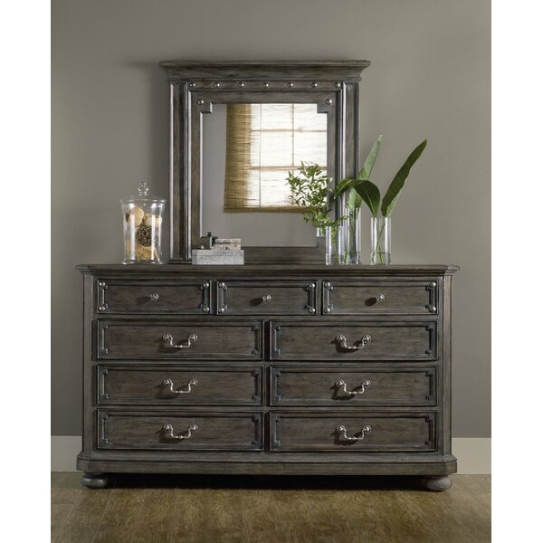 St. Armand 9 Drawer Dresser with Mirror by Hooker Furniture