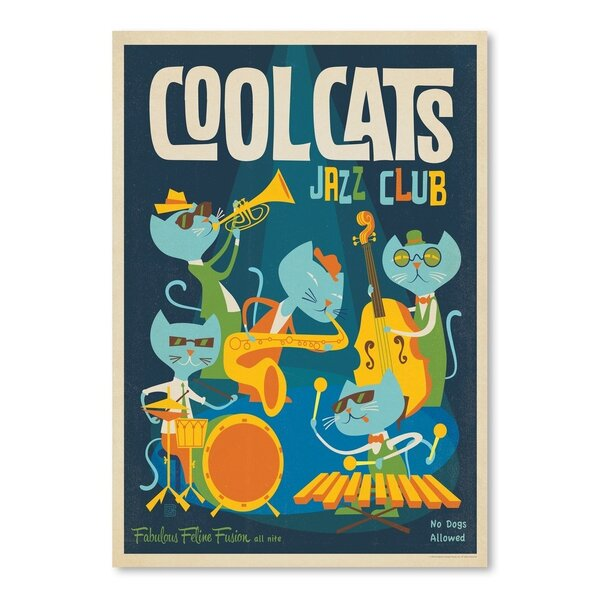 Cool Cats Jazz Vintage Advertisement by East Urban Home