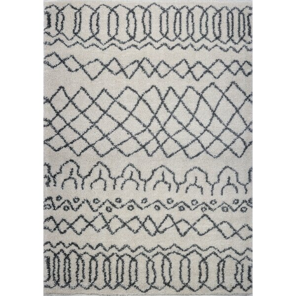 Chesnut Shaggy Gray Area Rug by Bungalow Rose