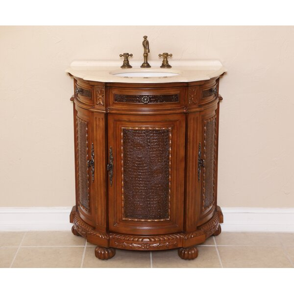 Anna 31 Single Demilune Bathroom Vanity Set by B&I Direct Imports