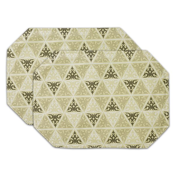 Elisha Prism Print Oval Vinyl Placemat (Set of 2) by Red Barrel Studio