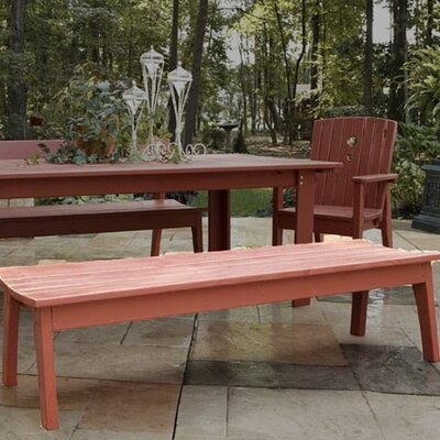Wooden Picnic Bench August Grove Color: New England Red