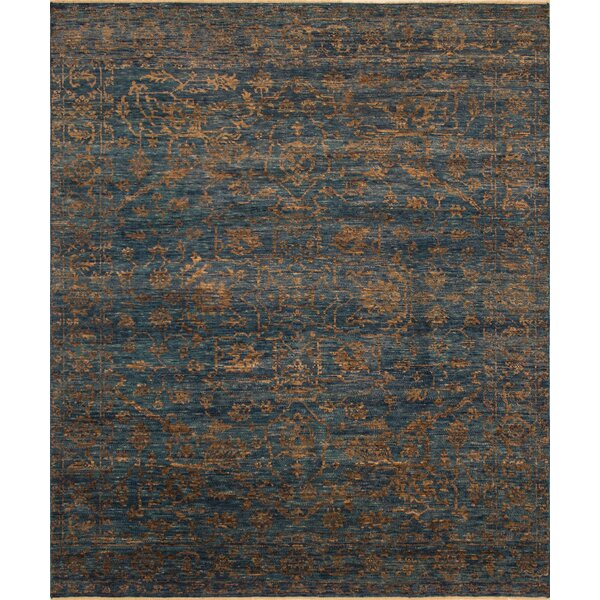 One-of-a-Kind Millican Fine Oushak Catalina Hand-Knotted Wool Blue Area Rug by Bloomsbury Market