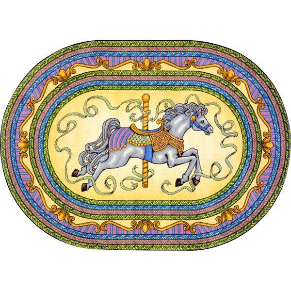 Joy Carpets Carousel Tufted Yellow Blue Rug Reviews Wayfair