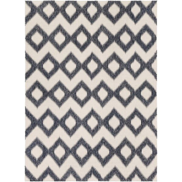 Faith Hand Woven Wool Gray/Beige Area Rug by Bungalow Rose