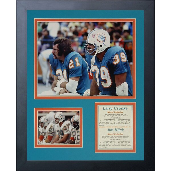 Larry Czonka and Jim Kiick Framed Memorabilia by Legends Never Die