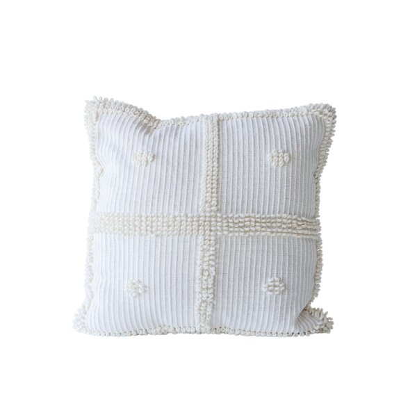 Eisenhart Natural Cotton Throw Pillow by Bungalow Rose