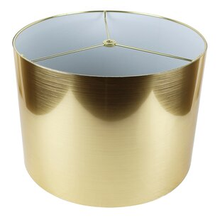 Drum gold lamp shades youll love wayfair save aloadofball Image collections