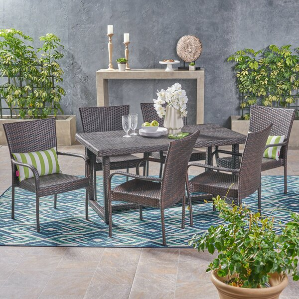 Moshier Outdoor 7 Piece Dining Set by Ebern Designs
