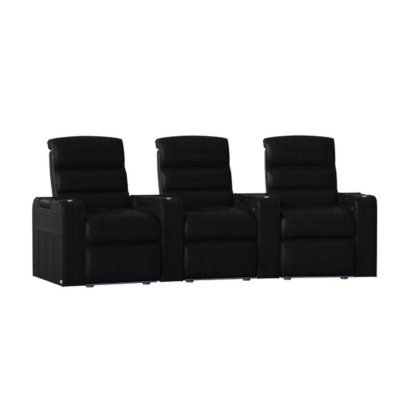 Magnum HR Series Curved Home Theater Recliner (Row Of 3) By Red Barrel Studio
