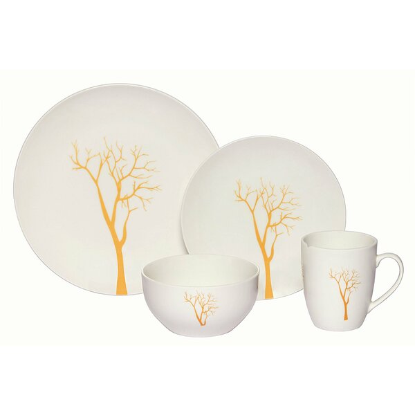Cendrillon Tree Porcelain Coupe 16 Piece Dinnerware Set by Red Barrel Studio