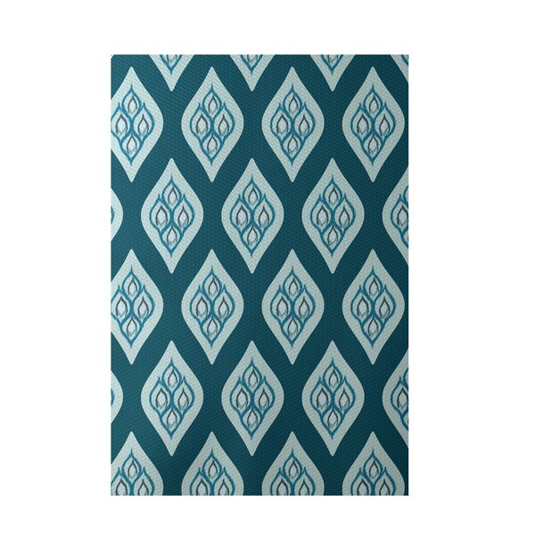 Floral Teal Indoor/Outdoor Area Rug by e by design