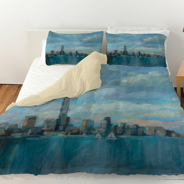 Manhattan Tower of Hope Duvet Cover by Manual Woodworkers & Weavers