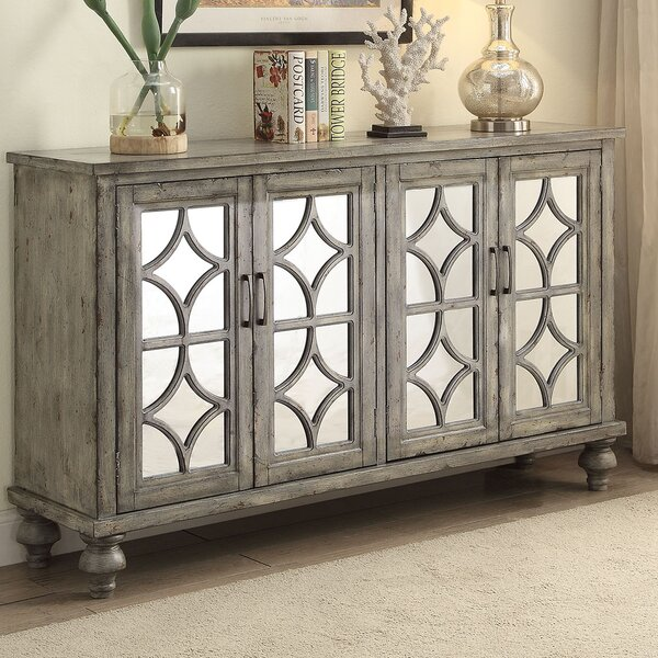 Diondre 4 Door Accent Cabinet by Bungalow Rose