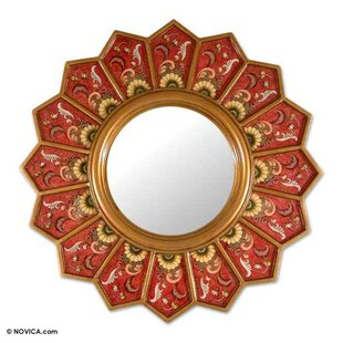 Bloomsbury Market Pierpont Sunflower Fan Accent Mirror